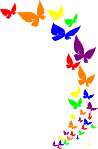 rainbow butterfly clip art at clker com vector clip art online rh clker com butterflies clip art free butterfly clipart black and white