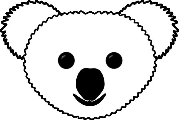 Koala S Head Clip Art at Clker.com - vector clip art ...