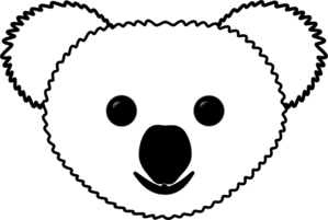 koala s head clip art at vector clip art online royalty free public domain. Black Bedroom Furniture Sets. Home Design Ideas