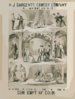 H.j. Sargents Comedy Company (organization No. 4) In Dion Boucicault S Farcical Comedy,  Contempt Of Court  Clip Art