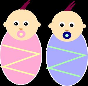 Boy Girl Twin Babies Clip Art at ClipartDeck.com - vector clip art online ...