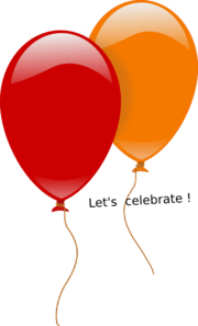 Red-yellow Balloon Clip Art