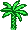 Cartoon Green Palm Tree Clip Art