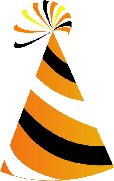 orange and white party hat clip art at clker com vector clip art rh clker com party hat clipart png party hat clipart etsy