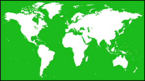 Green World Map Clip Art