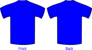 Plain Blue Shirt Clip Art