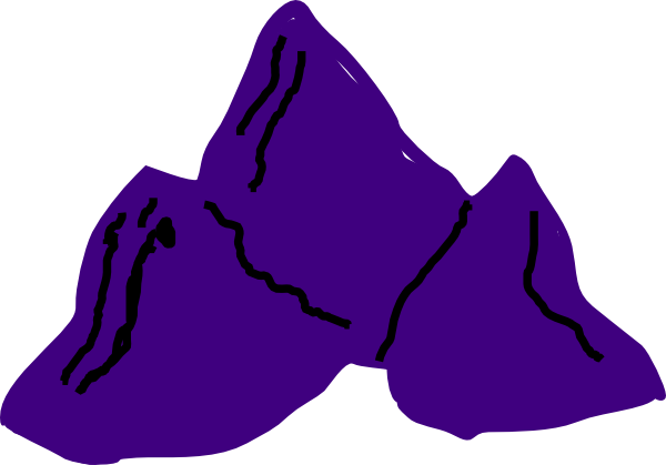 Purple Mountains Clip Art at Clker.com - vector clip art ...