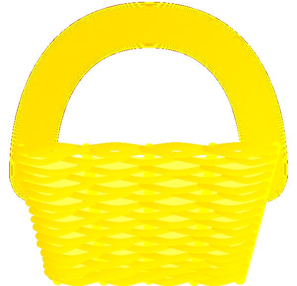 Basket Clip Art Images : Yellow basket clip art at clker vector
