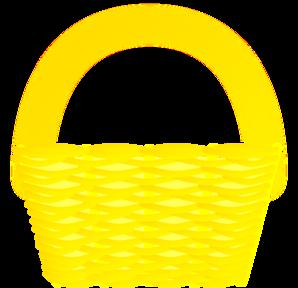 Yellow Basket Clip Art