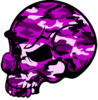 Skull Pink Camouflage Clip Art