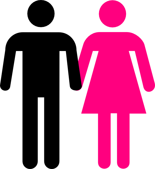 Bathroom Signs Holding Hands men women holding hands clip art at clker - vector clip art