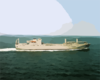 Usns Benavidez (t-akr 306)at Sea During  Sea Trials. Clip Art