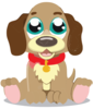 Cute Cartoon Puppy Clip Art