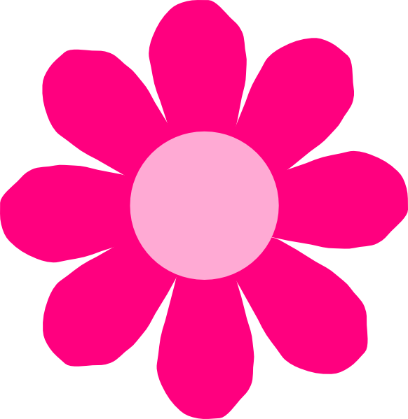 Yellow And Pink Flower Clip Art