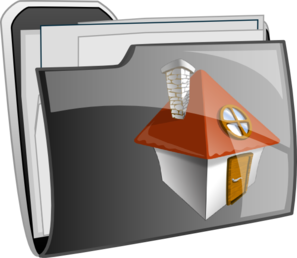Home Folder Icon  Clip Art