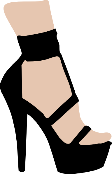 High Heeled Shoe Clip Art at Clkercom  vector clip art online