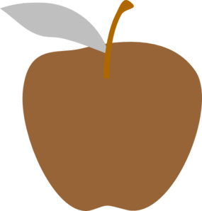 Brown Apple Edited Clip Art