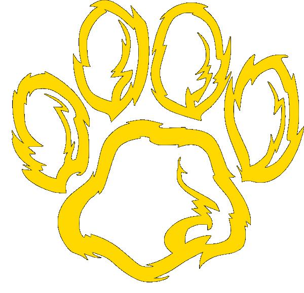 wildcat paw golden clip art at clker com vector clip art free wildcat clipart images Wildcat Words