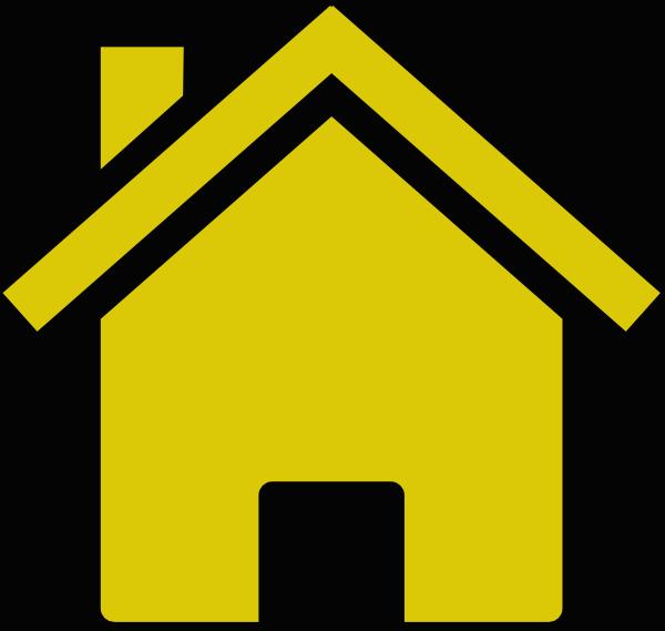 House Logo Clip Art At Clker Com: Gold House Black Background Clip Art Clip Art At Clker .com