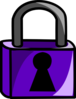 Purple Lock Clip Art
