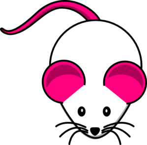 Pink White Mouse Clip Art