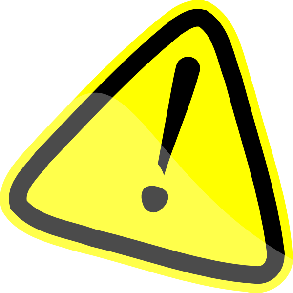 Warning Sign Clip Art at Clker.com - vector clip art ...