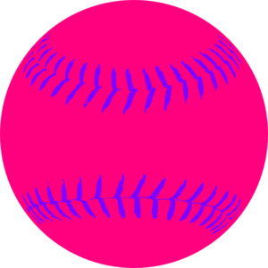 Pink Softball Clip Art