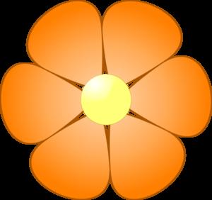 orange flower clip art at clker com vector clip art online rh clker com orange flower clip art free Yellow Flower Clip Art