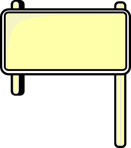 Highway Sign Blank clip art - vector clip art online, royalty free ...