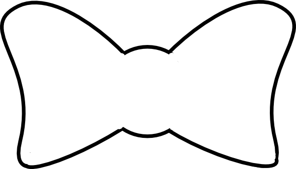 clipart bow tie outline - photo #2