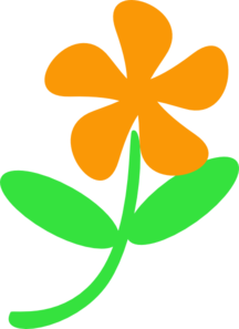 Orange Flower Stem Clip Art