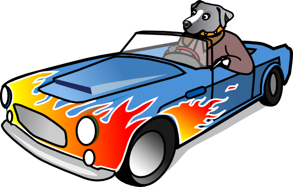 dog in sports car clip art at clker com vector clip art online rh clker com  sports car clip art free