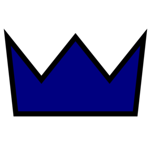 Clothing King Crown Icon Clip Art - Navy Clip Art