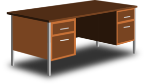 An Office Desk Clip Art