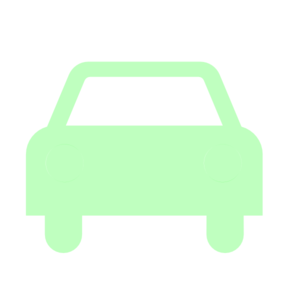 Car Green Solid Silhouette Clip Art