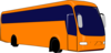 Bus Orange No Shadow Clip Art