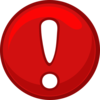 Red Alert Round Icon Clip Art