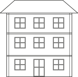 Three Story House Outline Clip Art