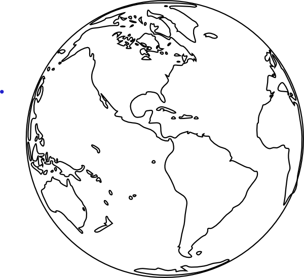 planet earth clipart black and white - photo #26