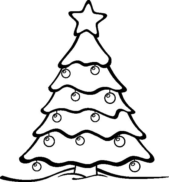 Sapin 01 Xmas Black Amp White Clip Art At Clker Com