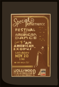 Special Performance Festival Of American Dance Featuring  An American Exodus  Clip Art