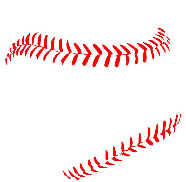 Red Baseball Laces Clip Art At Clker Com Vector Clip Art