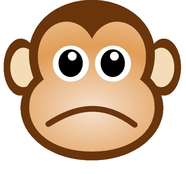 Sad Monkey Clip Art at Clker vector clip art online