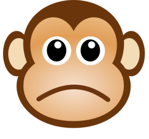 sad monkey clip art at clker com vector clip art online royalty rh clker com clip art monkeys free clip art monkeys pictures