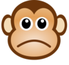 Sad Monkey Clip Art