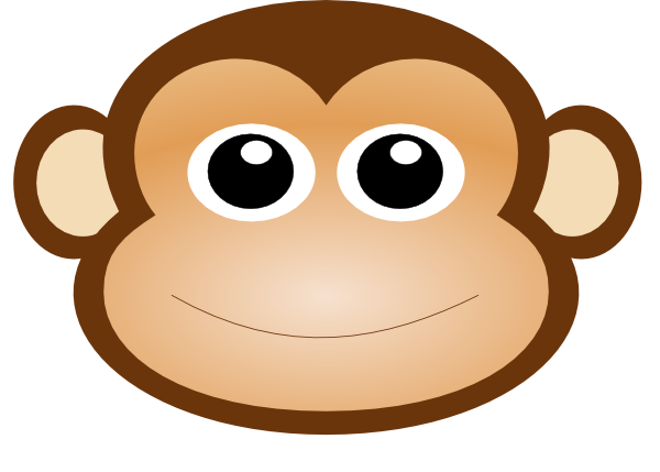 clipart monkey face - photo #6