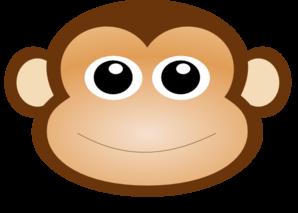 monkey face clip art at clker com vector clip art online royalty rh clker com