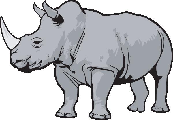 rhino gray clip art at clker com vector clip art online royalty rh clker com rhino clip art free rhino clip art