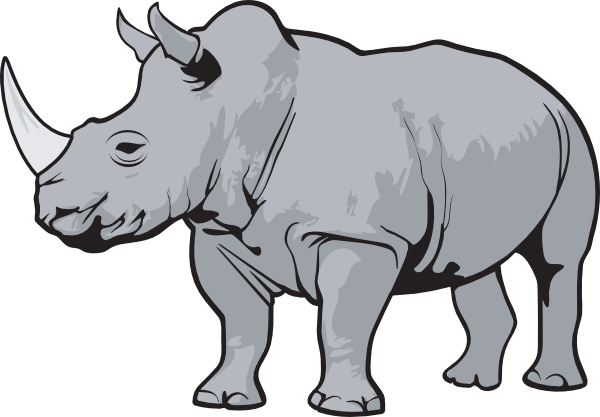 rhino gray clip art at clker com vector clip art online royalty rh clker com rhino clipart free rhino clipart png