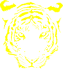Tiger Face Yellow Clip Art